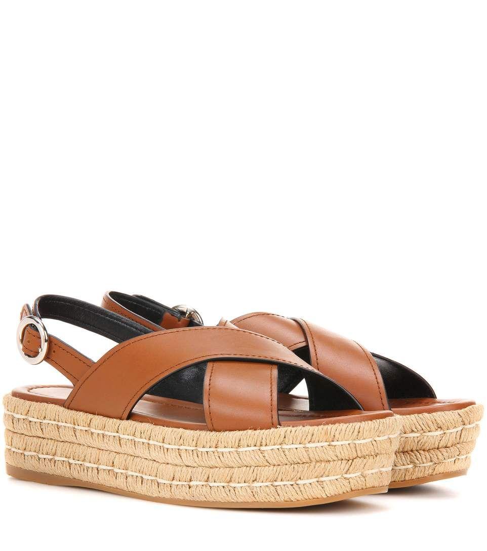 a4b0c0a1b06 PRADA . #prada #shoes #sandals | Prada | Leather espadrilles ...