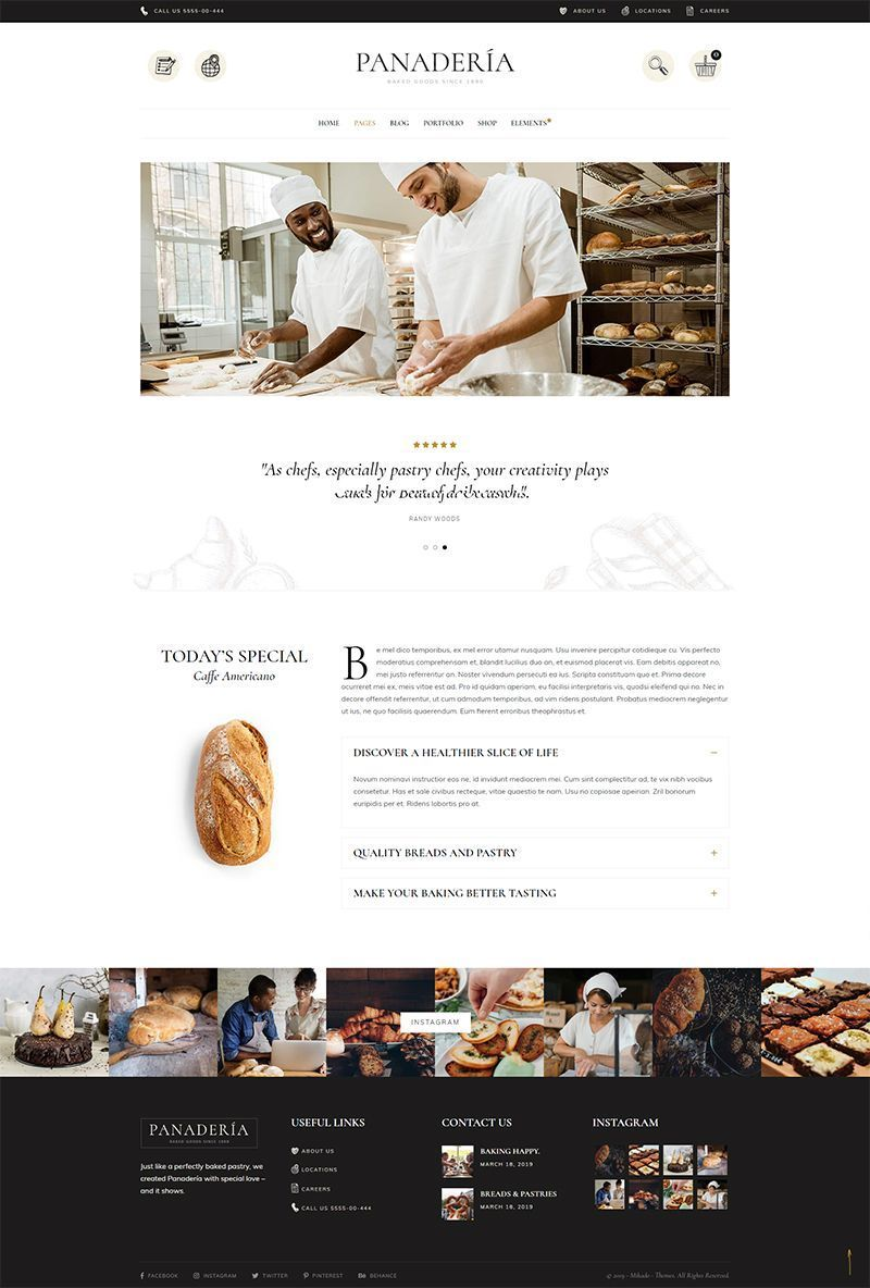 Panadería Bakery and Pastry Shop Theme Wordpress theme