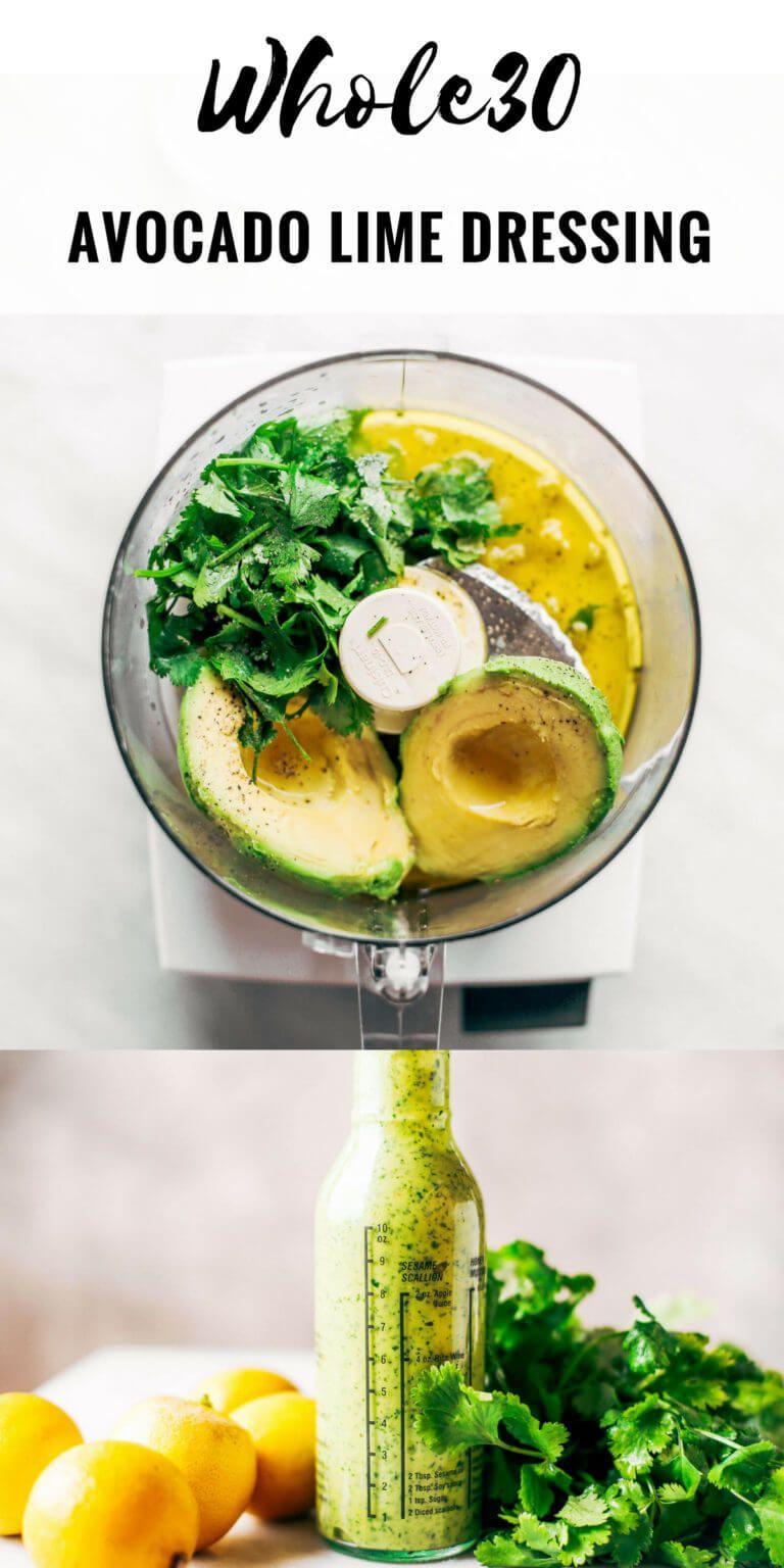 Creamy Avocado Cilantro Lime Dressing - Paleo Glut