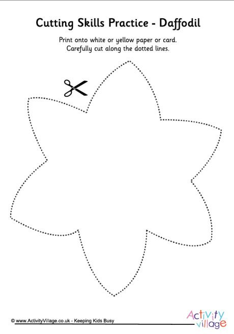 Cutting spring shapes daffodil templates pinterest for Template of a daffodil