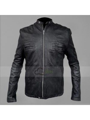 17 AGAIN ZAC EFRON MIKE O'DONNELL BLACK LEATHER JACKET