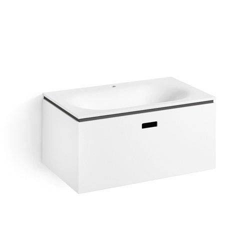 Photo of WS Bath Collections Ciacole 8062.17 Linea Bathroom Vanity in White/Dark Grey, Contemporary & Modern | Bellacor