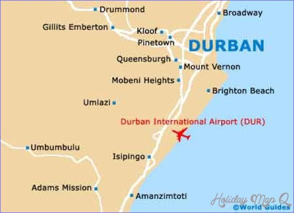 Durban Map Tourist Attractions httpholidaymapqcomdurbanmap