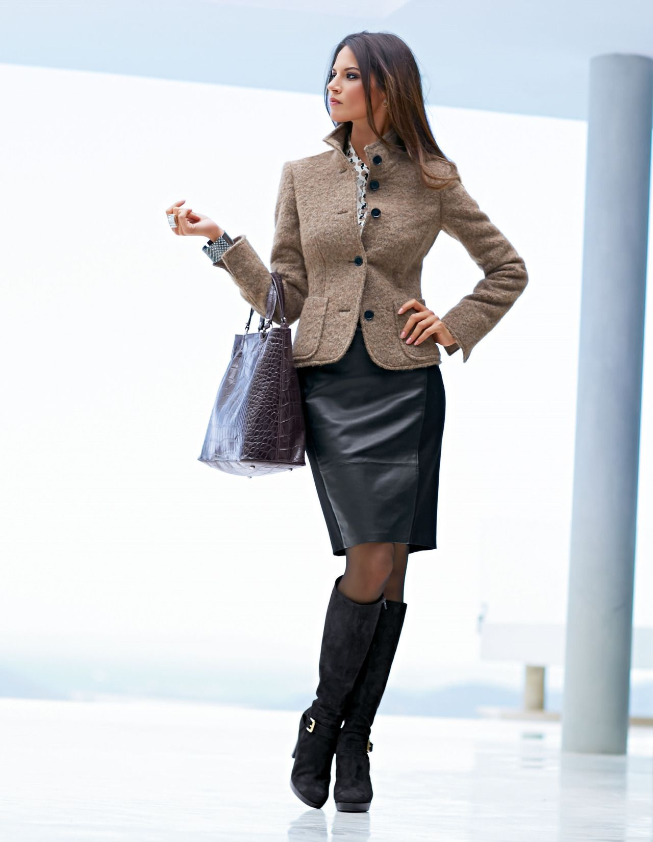 Skirt suits, uniforms, amazing dresses... | Ladies in Boots 3 ...