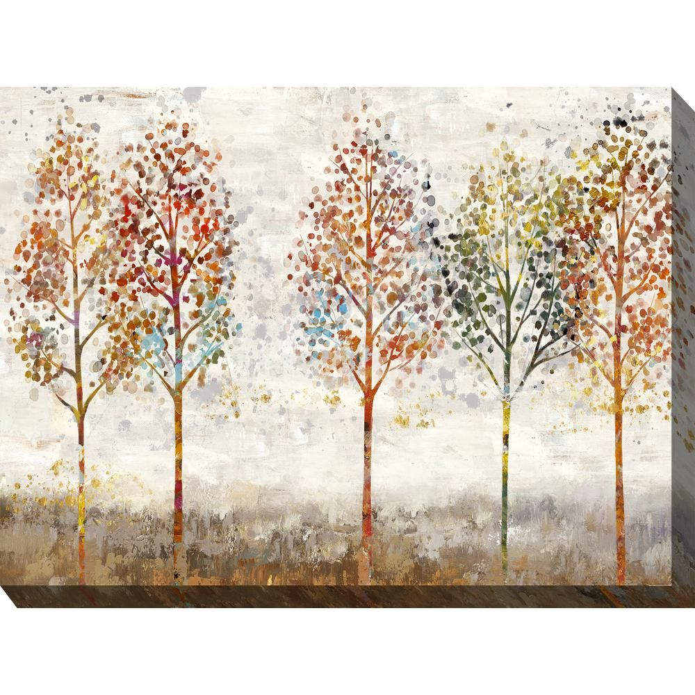 40 In X 30 In Young Forest Outdoor Canvas Wall Art Multi Forest Wall Art Canvas Wall Art Outdoor Canvas