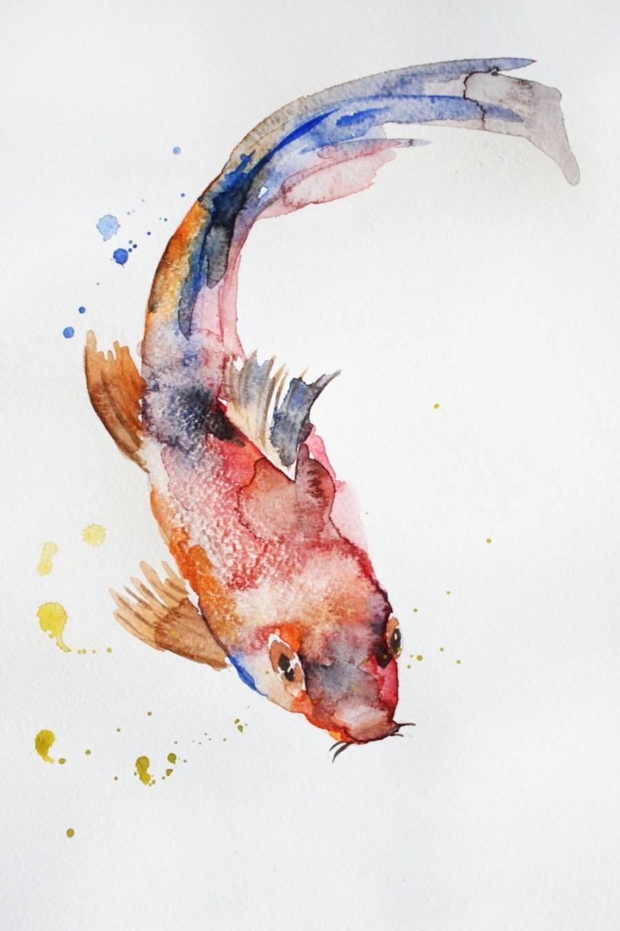 Idee Von Irma Yolanda Auf Koi Fish Aquarell Fisch Koi Kunst