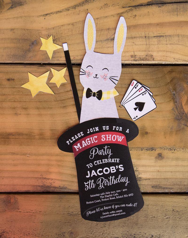 Handmade Magic Show Printable Party Invitation | Party invitations ...