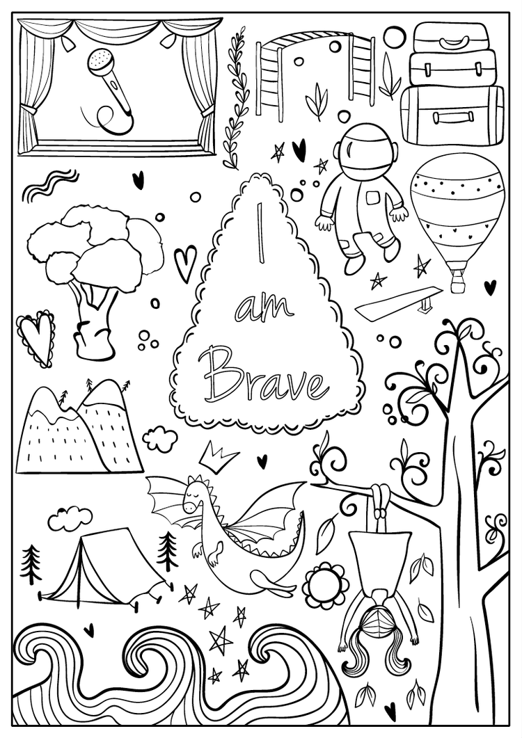 Coloring Page From From I Am Confident Brave Beautiful A Coloring Book For Girls Coloring Books Free Coloring Pages Coloring Pages