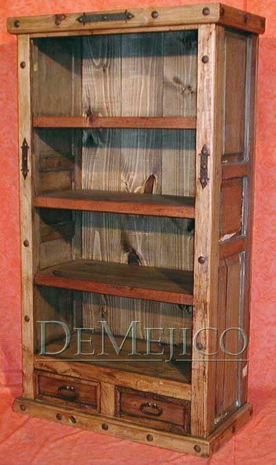 Alamo Old World Bookcase Demejico Old Doors Bookcase Rustic