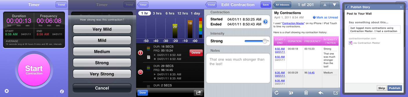 Contraction Master...labor tracker! will come in handy!!! app for iphone and android