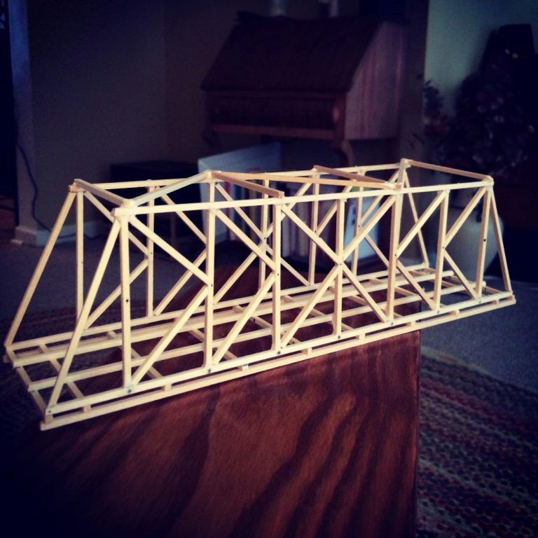 Classic K Truss Bridge Design Balsa Wood Garrett S Bridges