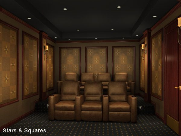 home theater acoustic design. We offer beautiful Home Theater acoustic panels featuring original art by  Glen Hoffman transform any