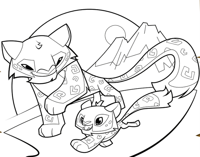 coloring pages of animal jam arctic wolf