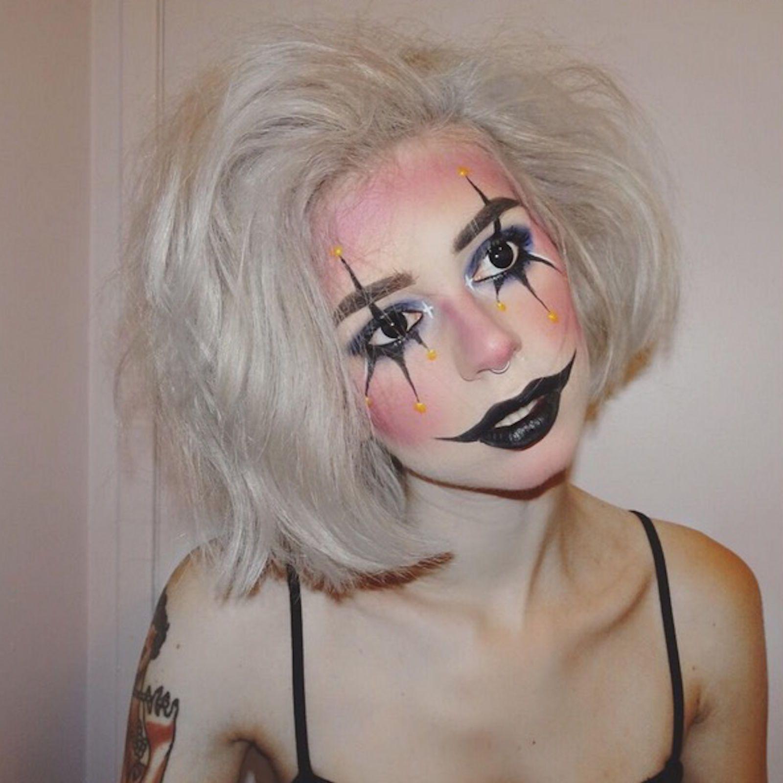 Crazy Clown makeupideascrazy Halloween makeup easy