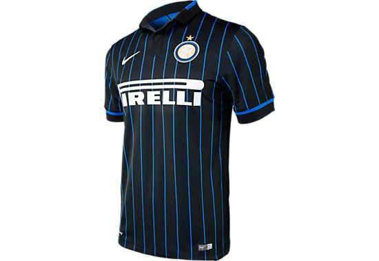 low priced dfc9c 23fa8 Nike Inter Milan Kids 2014-15 Home Jersey - Black and Blue ...