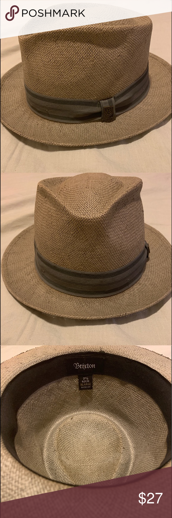 Brixton Gray Hat Size Xl 7 3 4 100 Paper Size Xl With Natural Imperfections Per Manufacturer Great Condition Priced To Sell Hat Sizes Hats Things To Sell