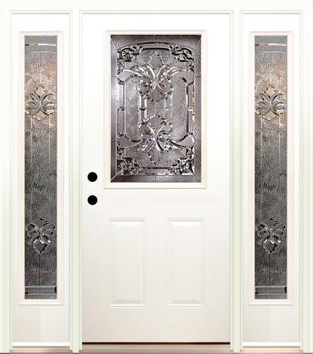 Mastercraft Tuscany 36  x 80  Steel Ext. Door with 14  Sidelites - & Mastercraft Tuscany 36