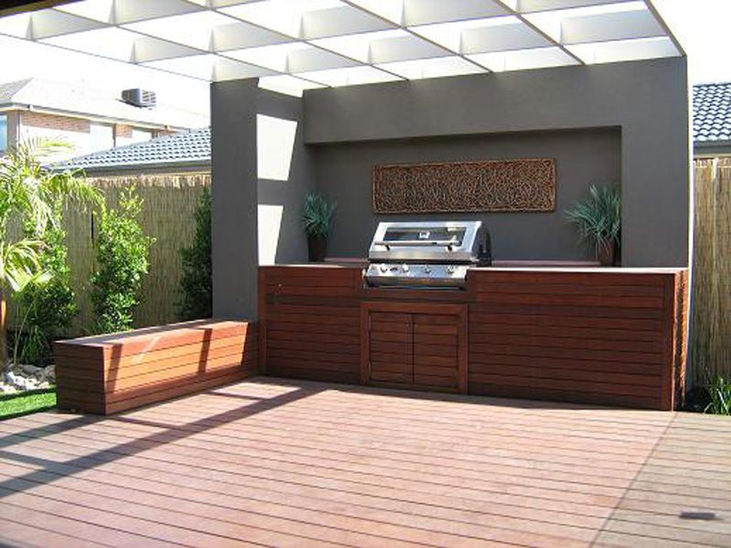 Outdoor feature wall check out large selection of bbq for Outside feature wall ideas