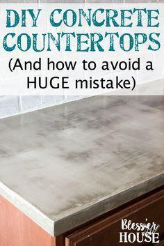 Diy Feather Finish Concrete Countertops Selbermachen Beton Arbeitsplatte Arbeitsplatte Gunstig