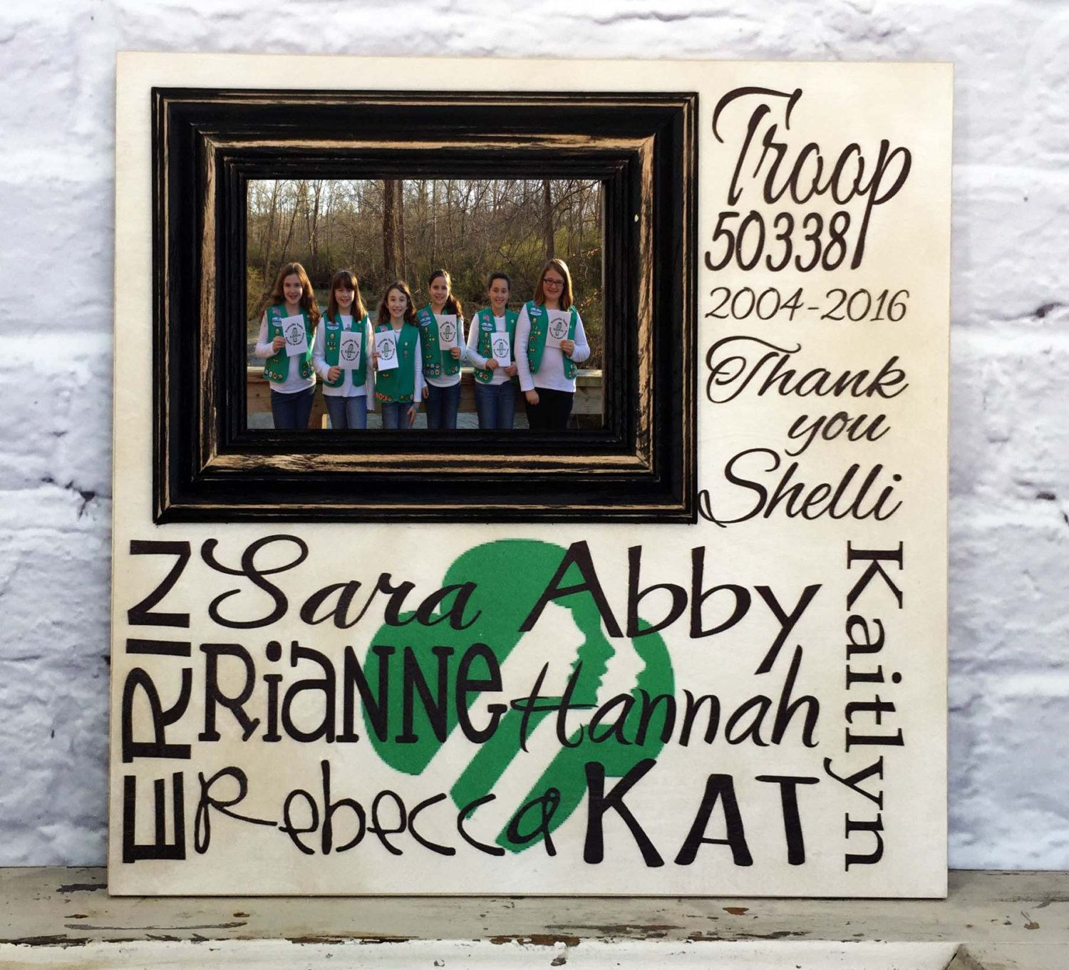Girls scout gift personalized picture frame girls scout troop shop for girl scout on etsy the place to express your creativity through the buying and selling of handmade and vintage goods jeuxipadfo Image collections