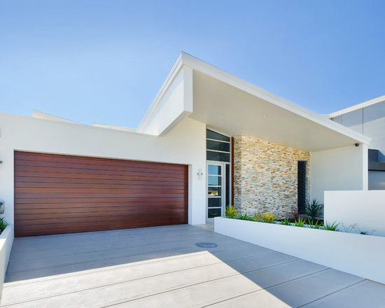 imagem 10 fachadas de casas terreas cal ada moderna e