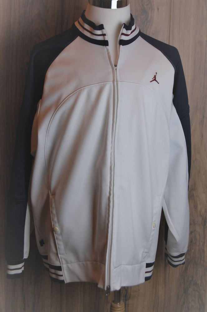 1d3cff6562d Nike Air Jordan Jumpman Full Zip Track Jacket Size XL Mens White Blue Red # NikeAirJordan #FullZipTrackJacket