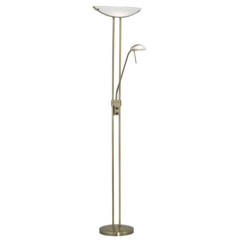 Elegante Vloerlamp Baya Bruin Gepolijst Vloerlamp Leeslamp Booglamp