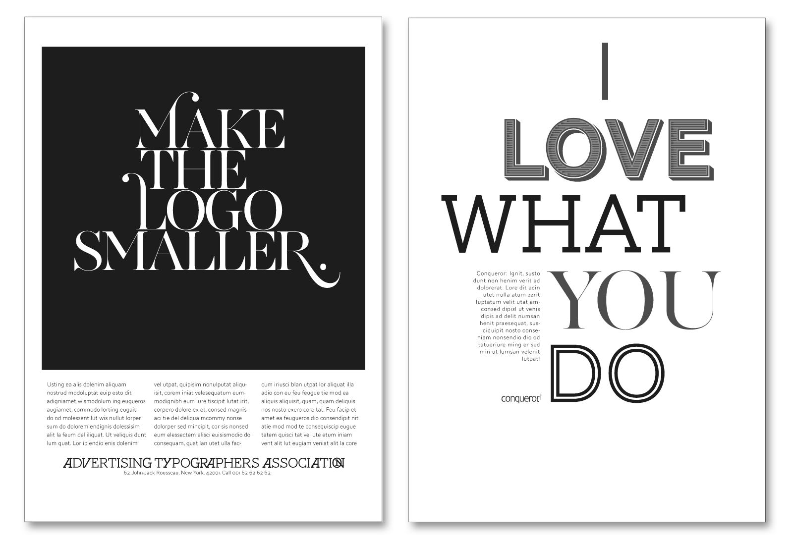 AW Conqueror — Typofonderie Design Inspiration
