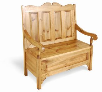Outstanding French Vintage Pine Two Seater Monks Bench With Lift Up Machost Co Dining Chair Design Ideas Machostcouk