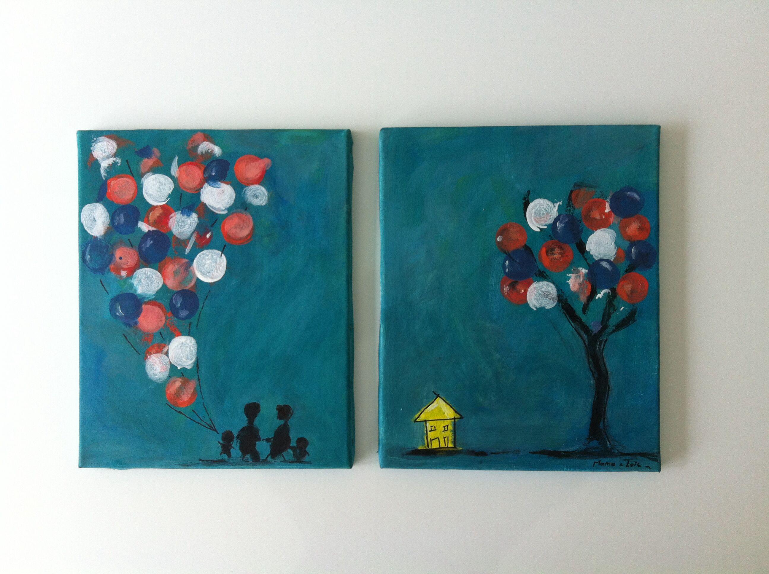 kunst-met-een-kleine-k... Een cadeautje gemaakt door mama & kleine Loïc voor papa's verjaardag...