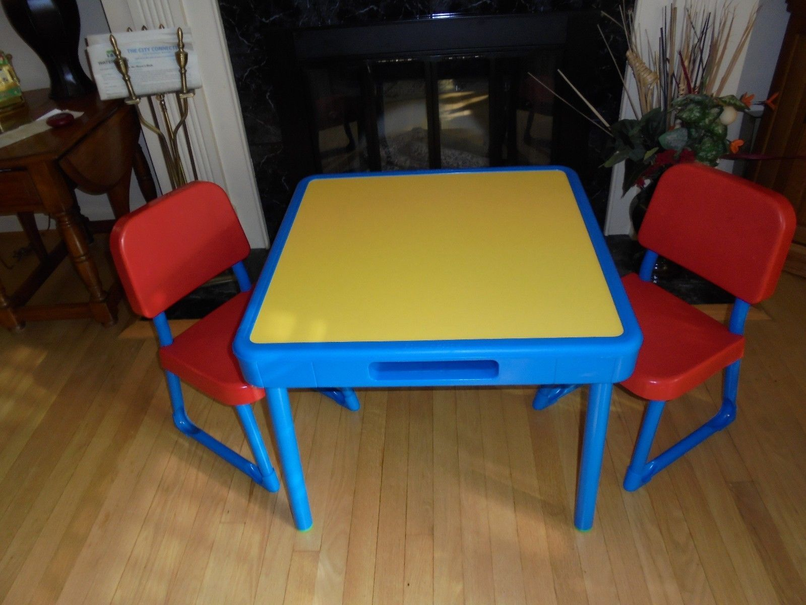 Vintage Fisher Price Arts And Crafts Table Chairs Set Child Size