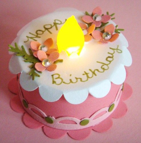 Stampin Up Product Happy Birthday Tea Light Cake Box