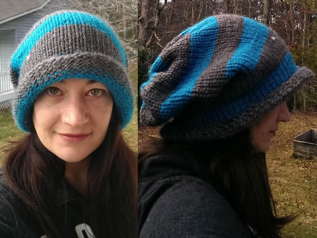 d4251300f63 Slouchy hat made on the Martha Stewart Loom. The 2 round plus two longest (
