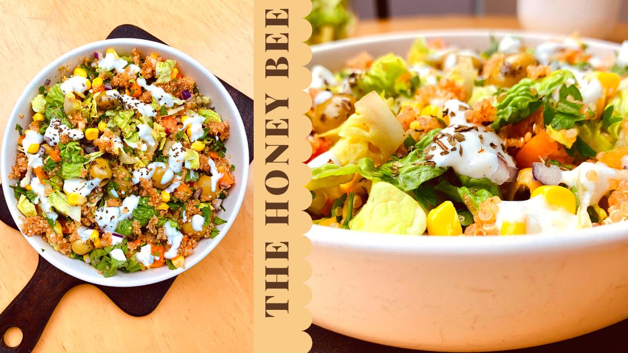 سلطة الكينوا مع صوص اللبن اليوناني Healthy Recipes Meals Healthy