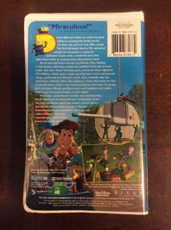 Toy Story 1996 VHS | T...A Christmas Story Vhs 1996