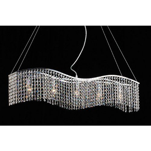 Modern Linear Rectangular Island Dining Room Crystal Chandelier Lightupmyhome Amazon
