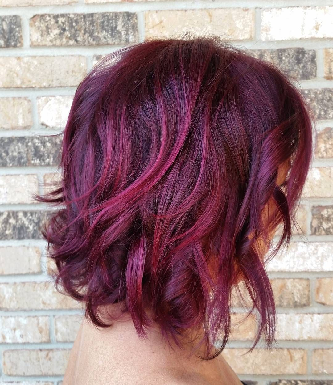 Relaxed Purple Waves Love The Color Hair Red Violet Hair Violet