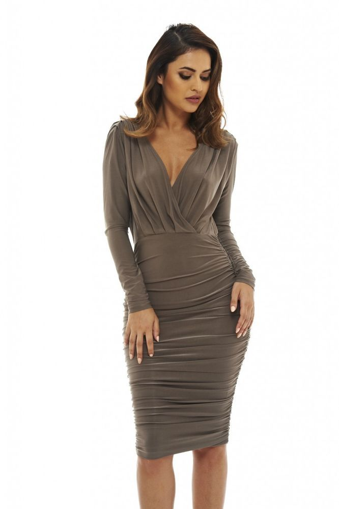 View Cheap Online Sequin Midi Dress - Pewter Glamorous Shopping Online Outlet Sale Best Sale For Sale ufZ8ak