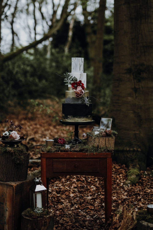 Modern Gothic Wedding Ideas In The Woods Gothic Wedding