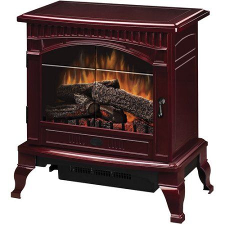 Dimplex Traditional Electric Wood Stove, Cranberry, Red