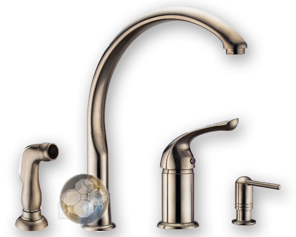 Medium image of 4 hole kitchen sink faucet