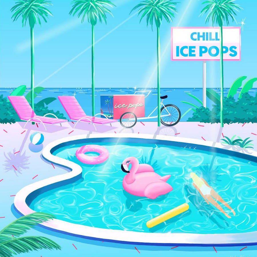 Miami Honda: Vibrant Miami 80's Style Illustrations En 2019