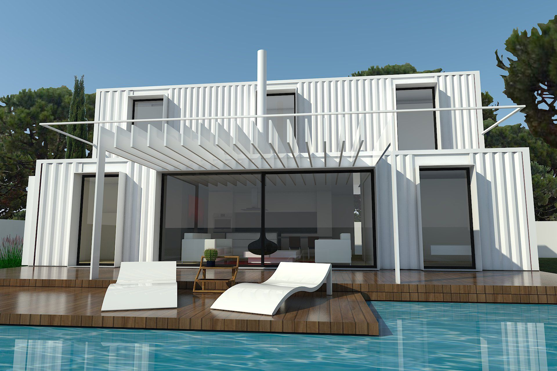 H kub casas prefabricadas en contenedores mar timos mi negocio pinterest casas casas - Como hacer una casa con contenedores maritimos ...