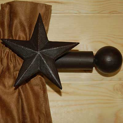 Western Star Curtain Rod And Bracket Set Curtain Rods Western