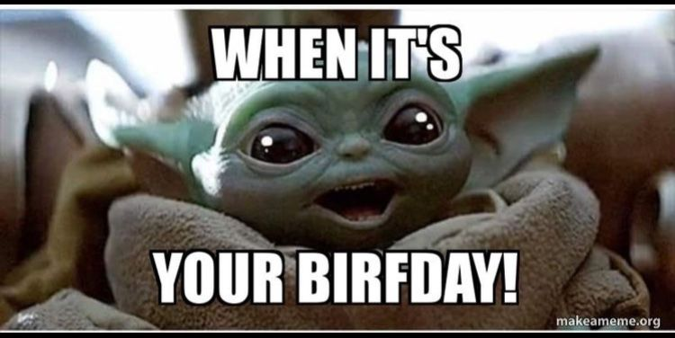 Pin By Ivette Alvarez On Funnies In 2020 Yoda Funny Yoda Meme Yoda Happy Birthday