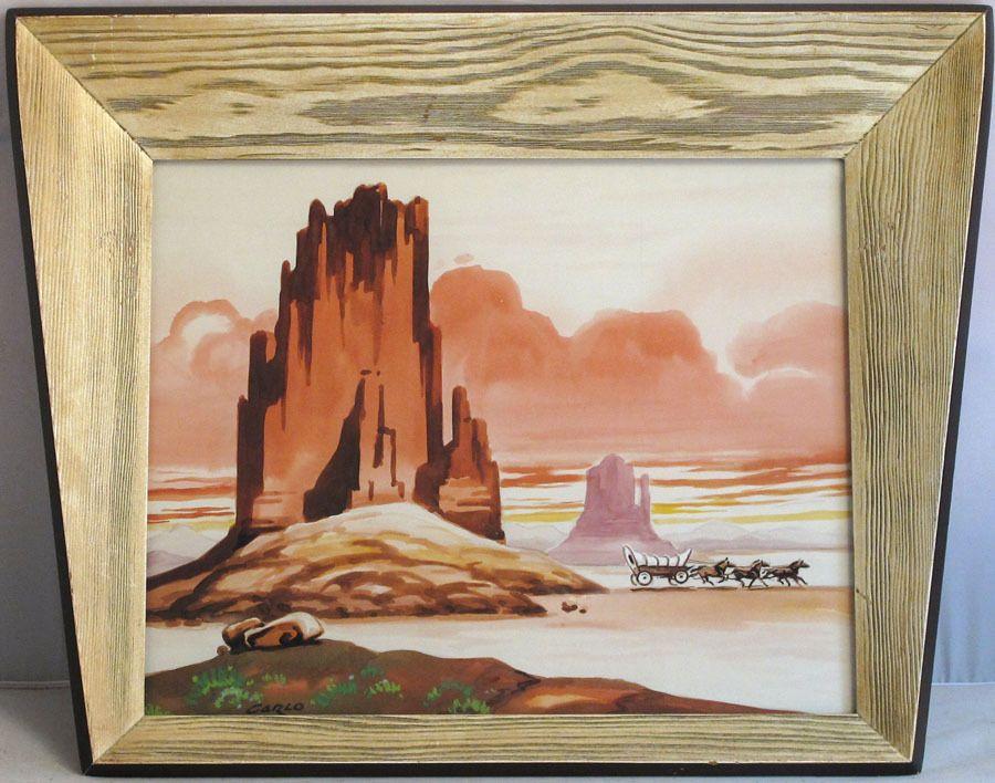 Canyon Passage - Bill Hughes | Landscape paintings, Art ...  |1950s American Realism Art Landscapes