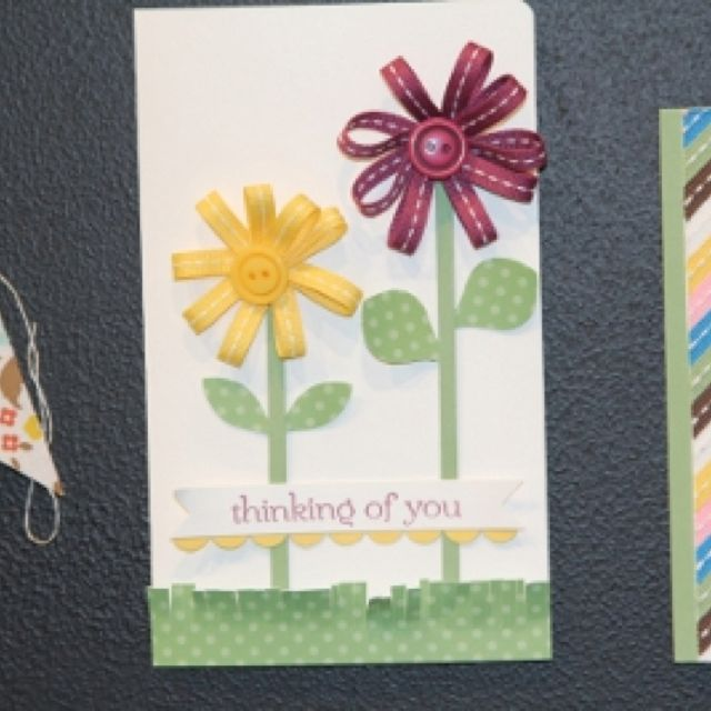 Card Making Ideas With Ribbon Part - 41: Ribbon Flowers