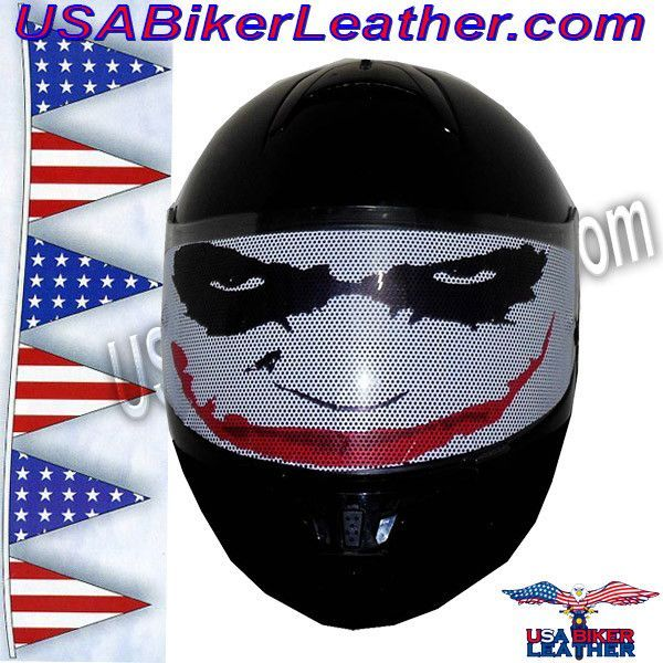 Joker Motorcycle Helmet Visor Sticker  SKU USAJOKERHI - Motorcycle helmet visor decals