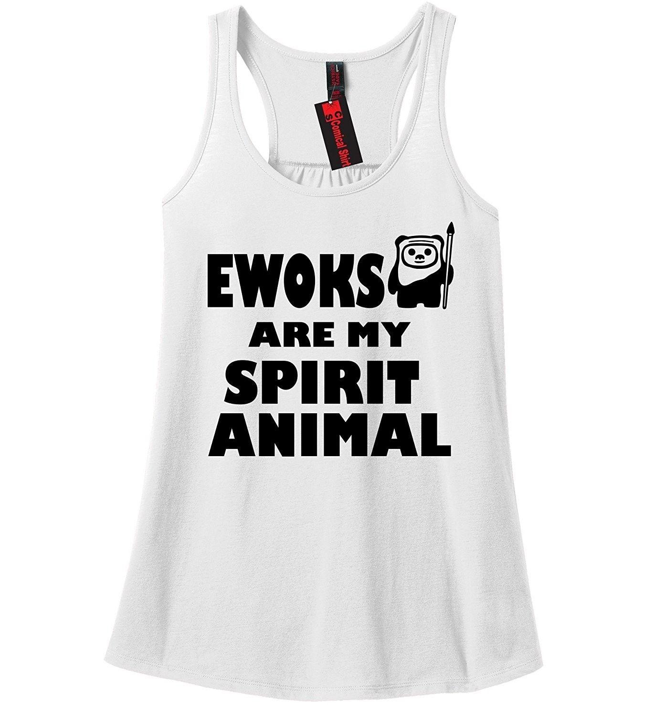 Ewoks Are My Spirit Animal T Shirt TV Show Movie Animal Graphic Tee