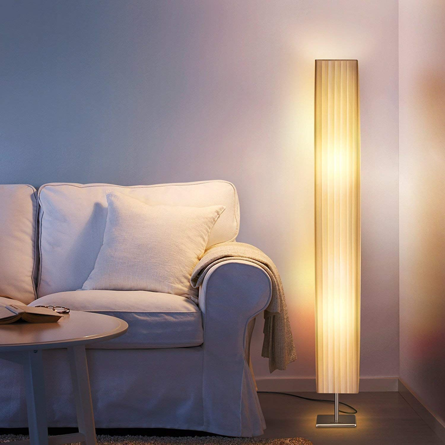 Fabric Floor Lamp, Modern Asian Style Standing Lamps with